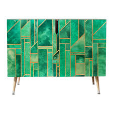 shop deny designs turquoise skies credenza by elisabeth