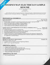 ideas collection sample resume for electrician for resume sample