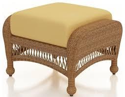 wicker ottoman elegant furniture design