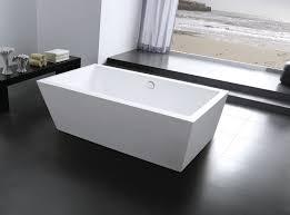 bathroom ideas white rectangle freestanding bathtub plus black