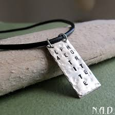 mens engraved necklaces name engraved men s pendant necklace black leather cord mens