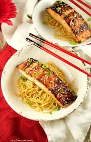 miso salmon over sesame noodles living sweet moments