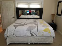 Small Bedroom With King Size Bed Ideas Diy Headboard Using Large Mirror From Ikea For A King Size Bed