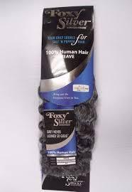 human hair in salt and pepper salt n pepper human hair deep wave weave track grey color 51