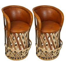 cushioned bar stool set of 2 mexican equipale bar stools with cushioned seat