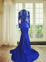 o neck lace prom dress mermaid dress long sleeve prom dresses 2017