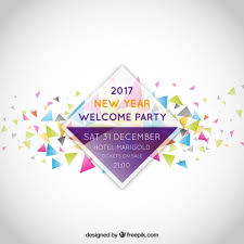 new year invitation new year party invitation label vector free