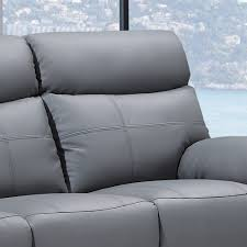 Sofa Recliner Leather Stirling Slate Grey Leather Recliner Collection With Pebble Grey Trim