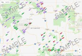 Wyoming Lakes images Wyoming lakes fishing map gif