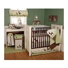 kidsline willow organic deer 6 piece crib set woodland creatures