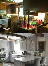 the finishing touches on our kitchen makeover before and afters