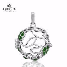 aliexpress com buy christmas gift enamel leaf cage pendant