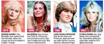 hairstyles in 1983 beyond the fringe from the purdey to the rachel 50 years of
