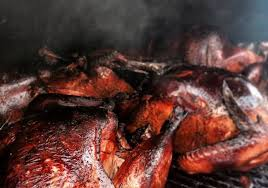 smoked turkeys on thanksgiving in san diego park
