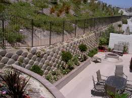 Pictures Of Retaining Wall Ideas by Black Fence Near Green Tree Fit To Retaining Wall Ideas With Back