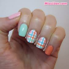 missjjan u0027s beauty blog pastel plaid nail art tutorial