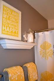 Yellow Accent Wall Best 20 Grey Yellow Bathrooms Ideas On Pinterest Grey Bathroom