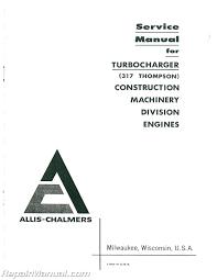 allis chalmers hd 7g diesel crawler loader service manual