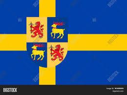 Sweden Flag Image Flag Kalmar County County Län Image U0026 Photo Bigstock