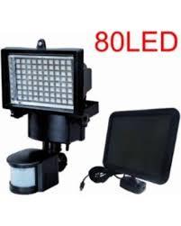 deal on 80 led solar powered motion sensor outdoor light
