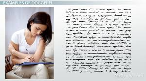 doggerel in poetry definition u0026 examples video u0026 lesson