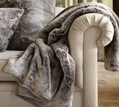 Pottery Barn Fur Blanket Pottery Barn Faux Fur Throw Chinchilla Barn Decorations