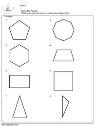 geometry worksheets polygons angles and vertices