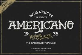 americano americano display fonts creative market