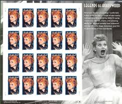 amazon com lucille ball i love lucy legends of hollywood stamps