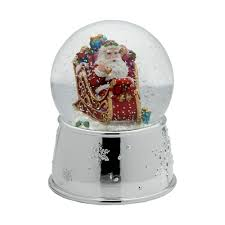 buy celebrations by mikasa santa in sleigh musical snow globe