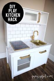 Ikea Kitchen White Cabinets Diy Play Kitchen Hack For Makaila Pinterest Faux Marble