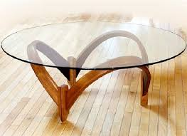 Oval Glass Top Coffee Table Home Made Wooden Tables Round Glass Top Coffee Table With Wood