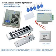 diy home office single door rfid access control system kit 180kg em magnetic lock id card