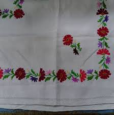 Hand Embroidered Table Cloth  X Cmparna - Table cloth design