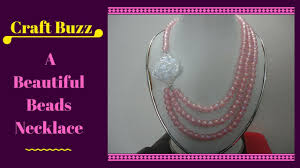 beautiful beads necklace images How to make a beautiful beads necklace at home craft buzz jpg