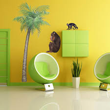 Tree Wall Mural by Giant Palm Tree Wall Sticker 229 Cm Tall Great For Jungle Themes