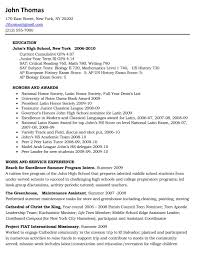Senior Resume Template For High High Senior Resume High