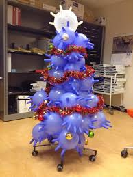 medical laboratory and biomedical science lab gloves christmas tree