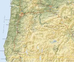 Terrain Map Oregon State Terrain Map Doretta Smith Oregon Coast Real Estate