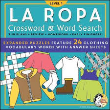 la ropa expanded spanish clothing vocabulary word search