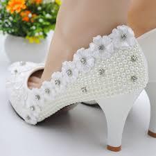 Wedding Shoes Online Uk Round Toe Stiletto Heel 2017 Slip On Plain Appliques Bead Women U0027s