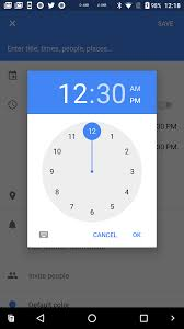 android o feature spotlight the time picker now has a manual text