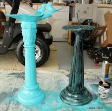 painting a verdigris finish on concrete or metal statues spring