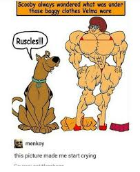 scooby always wondered what was under those baggy clothes velma
