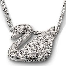 swarovski platinum necklace images Swarovski clear crytsal swan necklace jpg