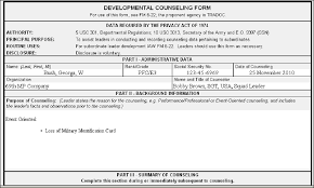 Counseling Form 4856 Fillable Lost Id Card Counseling Exle Lost Cac Card