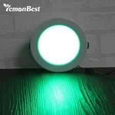 lemonbest 5w 10w round rgb led panel light concealed recessed