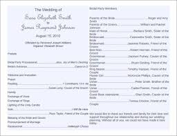 wedding program exles wording 8 word wedding program templates free free premium
