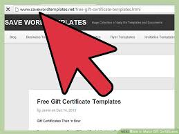 gift certificates 3 ways to make gift certificates wikihow