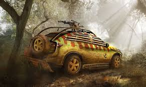 jurassic park car trex 2015 mercedes gle reimagined and modified for jurassic world carwow